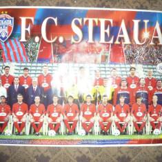 Poster al Echipei de Fotbal STEAUA -anii '90 dim. =70x47 cm -uzat