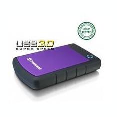 Transcend HDD extern 25H3P 2.5inch 2000GB USB3, sistem cu tripla protectie la soc