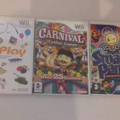 LOT 3 jocuri - Carnival - PLAY - Smarty Pants - Nintendo Wii [Second hand] - Jocuri WII, Sporturi, 3+, Multiplayer