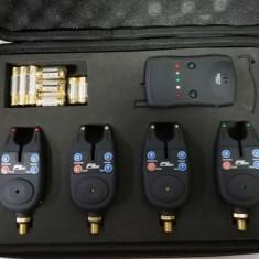 Set 4 Senzori - Avertizori FL cu Statie si Iluminare TLI-01 - Avertizor pescuit, Electronice