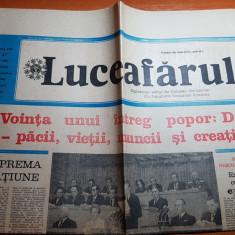 luceafarul 22 noiembrie 1986-referendumul pt reducerea armamentelor militare