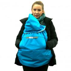 Protectie de iarna pentru sisteme de purtare a bebelusilor BB Junior model albastru