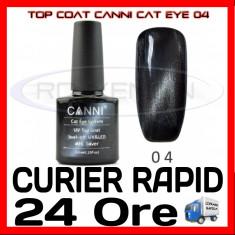TOP COAT CANNI CAT EYE 04 ARGINTIU 7.3ML - LUCIU FINAL - MANICHIURA GEL UV