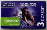 ROMANIA CARTELA Cosmote 3 euro - PENTRU COLECTIONARI **