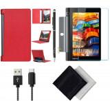 Pachet Accesorii pentru tableta Lenovo Yoga 3 YT3-X50M, YT3-X50F BOOK ROSU 10.1 inch, Oem