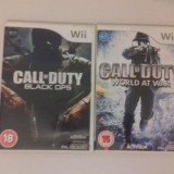 LOT 2  jocuri - Call of Duty - Black Ops - World - Nintendo Wii [Second hand]