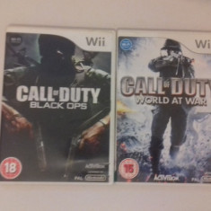 LOT 2 jocuri - Call of Duty - Black Ops - World - Nintendo Wii [Second hand] - Jocuri WII, Shooting, 3+, Multiplayer