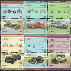 Nevis 1985 - automobile, serie neuzata - Timbre straine