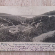 Resita, Secul, 1905 Caras-Severin, cale ferata, gara punct terminal Secul-Anina - Carte Postala Banat 1904-1918, Circulata, Fotografie