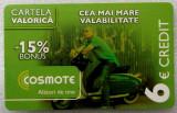 ROMANIA CARTELA Cosmote 6 euro - PENTRU COLECTIONARI **
