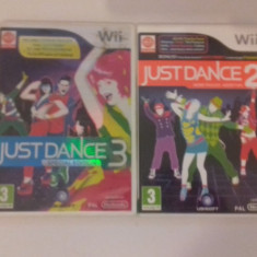 LOT 2 jocuri - Just Dance 2 + 3 - Nintendo Wii [Second hand] - Jocuri WII, Board games, 3+, Multiplayer