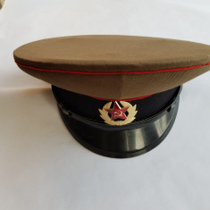 CASCHETA , SAPCA MILITARA DE OFITER - RUSIA ( URSS)- anii 1980