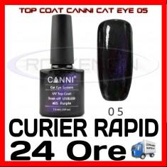 TOP COAT CANNI CAT EYE 05 MOV 7.3ML - LUCIU FINAL - MANICHIURA GEL UV