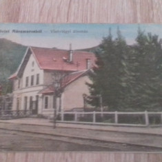 Valea Viseului,Maramures 1914,gara,linia Sighetul Marmatiei-Cluj, Circulata, Fotografie