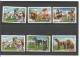 No(09)timbre-Romania 1990 - Caini De Rasa-6 val deparaiate, Nestampilat