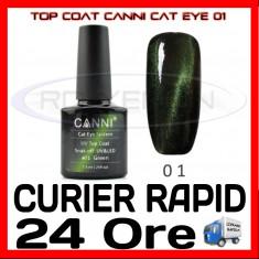 TOP COAT CANNI CAT EYE 01 VERDE 7.3ML - LUCIU FINAL - MANICHIURA GEL UV