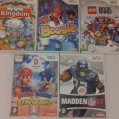 LOT 5 jocuri - LEGO Rockband - My Sims - Mario - Nintendo Wii [Second hand] - Jocuri WII, Actiune, 3+, Multiplayer