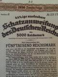 5000 Reichmark Germania 1936 obligatiune la purtator