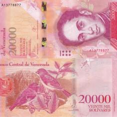 VENEZUELA 20.000 bolivares 2016 UNC!!!