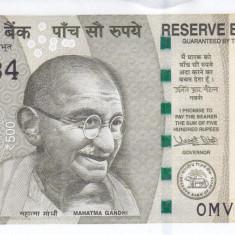 Bancnota India 500 Rupii 2017 - PNew UNC - bancnota asia