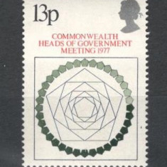 Anglia .1977 Conferinta sefilor de stat Commonwealth KB.72 - Timbre straine, Nestampilat