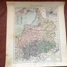 Veche harta inceput de secol XX provincia prusaca Prusia Rasariteana Ostpreussen - Harta Germaniei