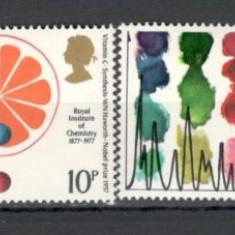 Anglia .1977 100 ani InstitutuI Regal de Chimie KB.70 - Timbre straine, Nestampilat