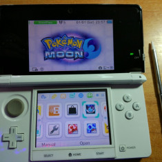 Consola Nintendo 3ds, modata, card 16gb, Pokemon Moon + Mario
