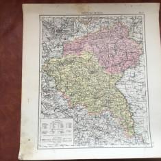 Prusia / Veche harta inceput de secol XX provincia prusaca Posen - Harta Germaniei