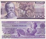MEXIC 100 pesos 25 martie 1982 - serie VM UNC!!!
