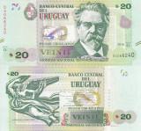 URUGUAY 20 pesos 2015 UNC!!!