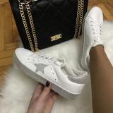 Adidasi dama albi cu argintiu marime 37, 38, 39+CADOU