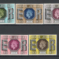 Anglia .1977 25 ani de regenta Regina Elisabeth II KB.71 - Timbre straine, Nestampilat