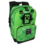 Ghiozdan Minecraft ORIGINAL Creeper Green licenta Mojang 44cm, Unisex, Verde