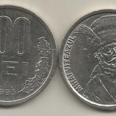 ROMANIA 100 LEI 1993 [1] XF, livrare in cartonas - Moneda Romania, Fier