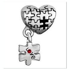 Talisman INIMA LOVE PUZZLE pentru bratara Pandora - Bratara argint pandora, Femei
