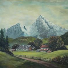 Tablou de MARI DIMENSIUNI neinramat / ulei pe panza, Natura, Realism