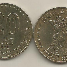 ROMANIA 20 LEI 1995 [2] livrare in cartonas - Moneda Romania, Fier