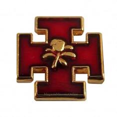 Pin Cruce de Ierusalim - Trandafir