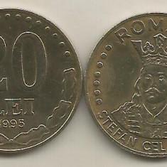 ROMANIA 20 LEI 1995 [1] VF, livrare in cartonas - Moneda Romania, Fier