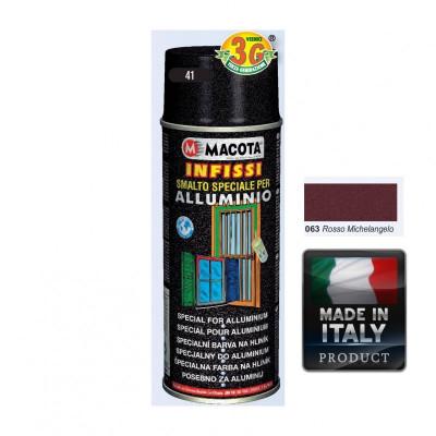 Spray Vopsea Pt. Aluminu Rosu Macota 400ml. foto