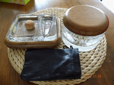 humidor tutun+scrumiera suport  pipe foto