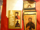 Carnet cu 14  Icoane vechi din Manastirea Rila Bulgaria , dim.= 15x21 cm