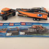 LEGO 4x4 cu barca motrizata 60085