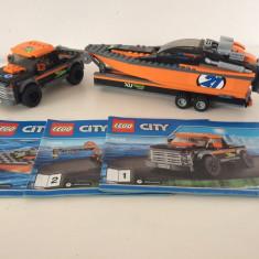LEGO 4x4 cu barca motrizata 60085 - LEGO City