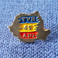 Insigna TVR - 45 de ani - Telecomunicatii