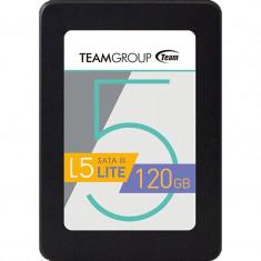 SSD TeamGroup T2535T120G0C101, L5 Lite 120GB SATA-III 2.5 inch, 120 GB, SATA 3