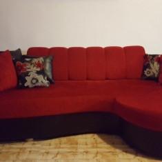 Canapea Romanita rosu cu negru