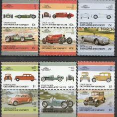 Union Island 1986 - automobile-4, serie neuzata - Timbre straine