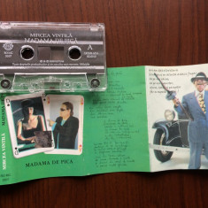 Mircea vintila madama de pica album caseta audio muzica pop rock folk roton 2000, Casete audio